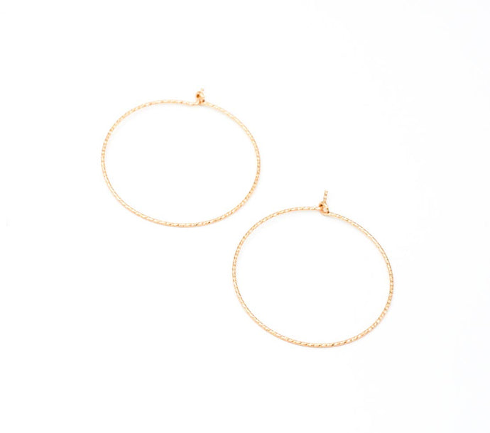 medium sparkle hoop earrings