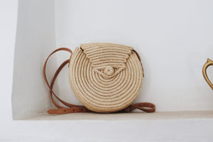 raffia button bag