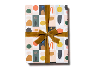 color block wrapping paper