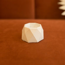Load image into Gallery viewer, mini geometric concrete planter in barely beige