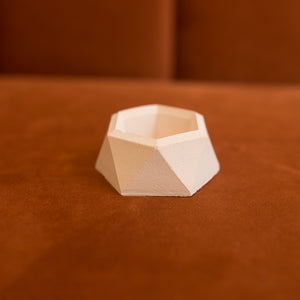 mini hexagonal concrete planter in blush