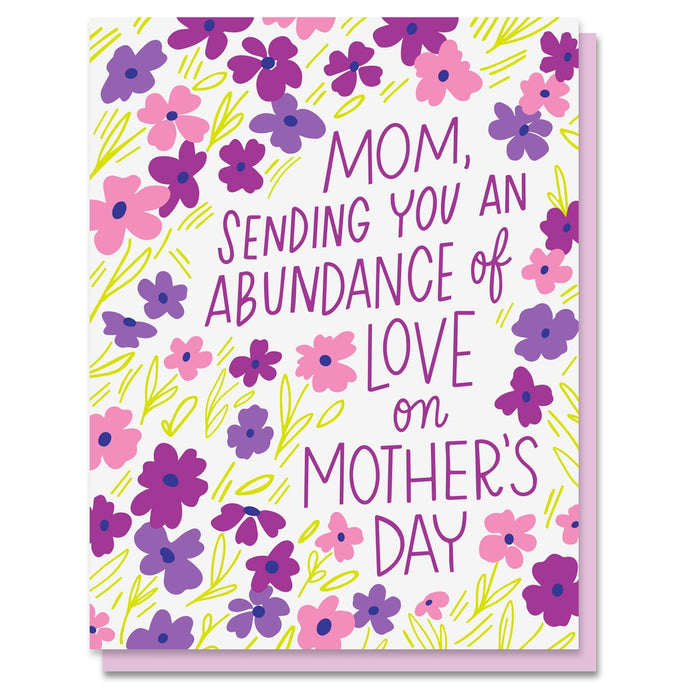 abundance of mother's day flowers card