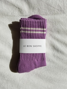 boyfriend socks in grape