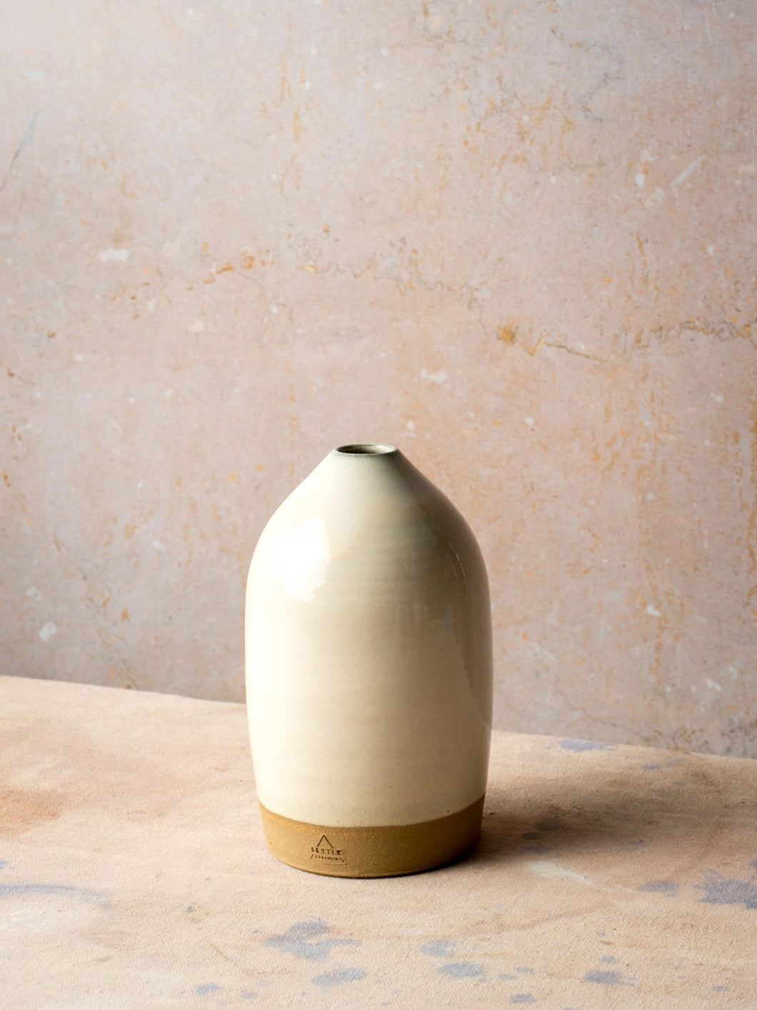 bottle vase in peach dew