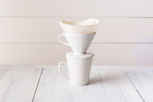 Load image into Gallery viewer, organic cotton reusable coffee cone filters