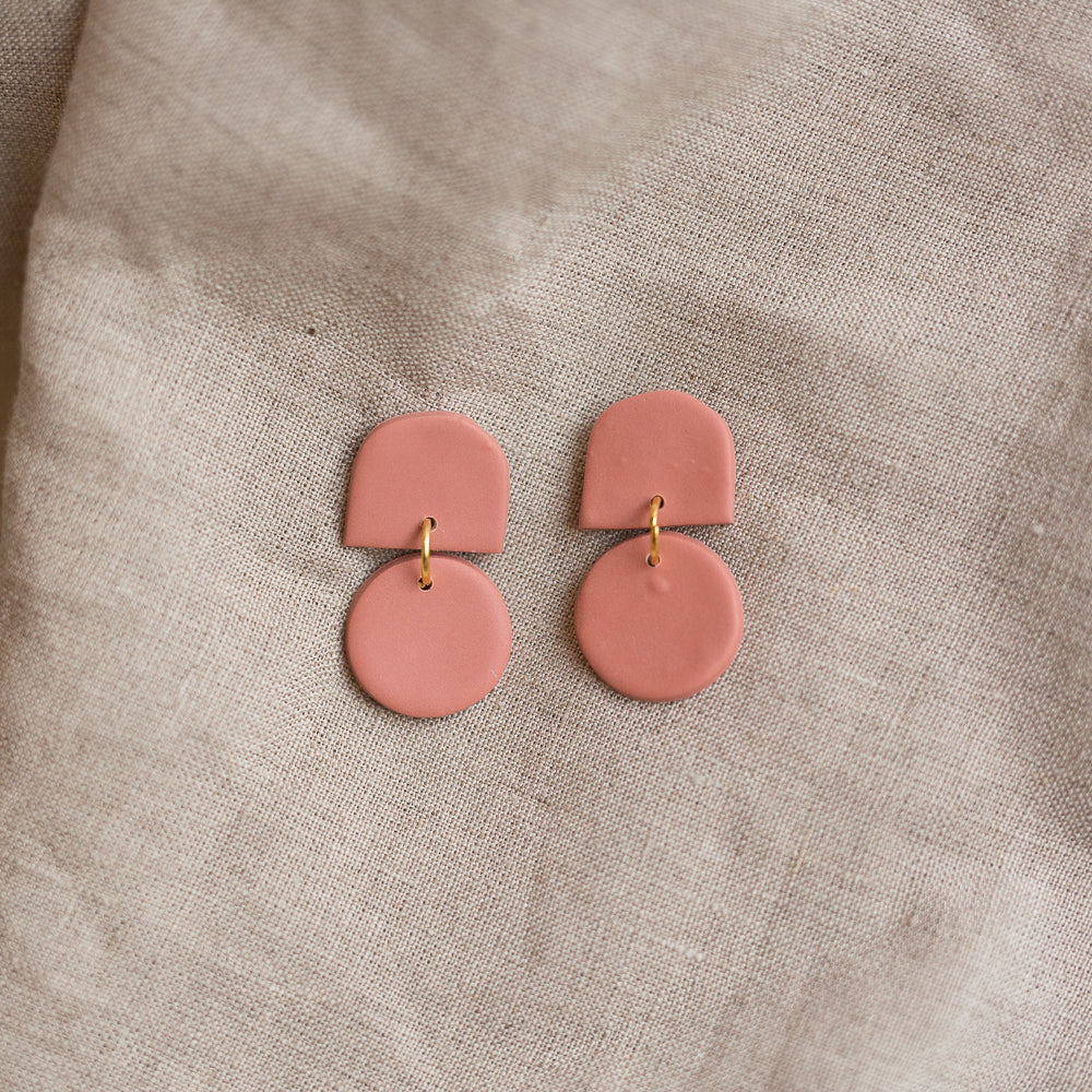 terracotta dottie earrings