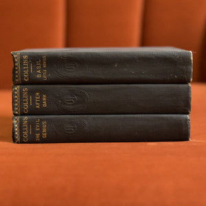 navy vintage book set collins