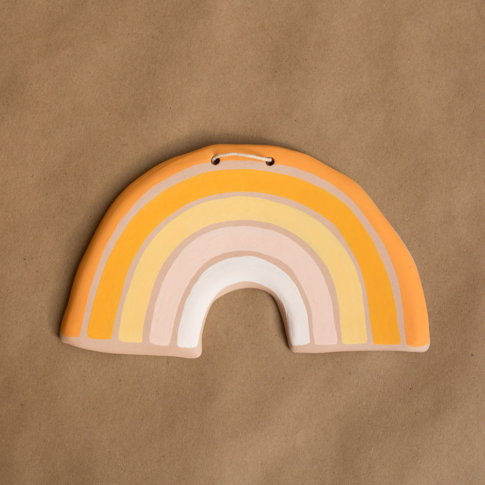hanging clay rainbow #4