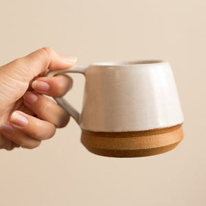 medium ceramic white mug