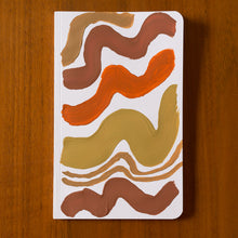 Load image into Gallery viewer, hand painted notebook wavy lines