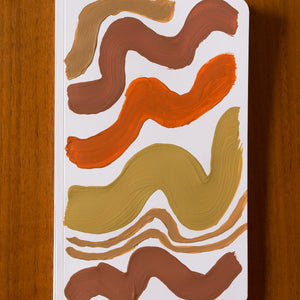 hand painted notebook wavy lines
