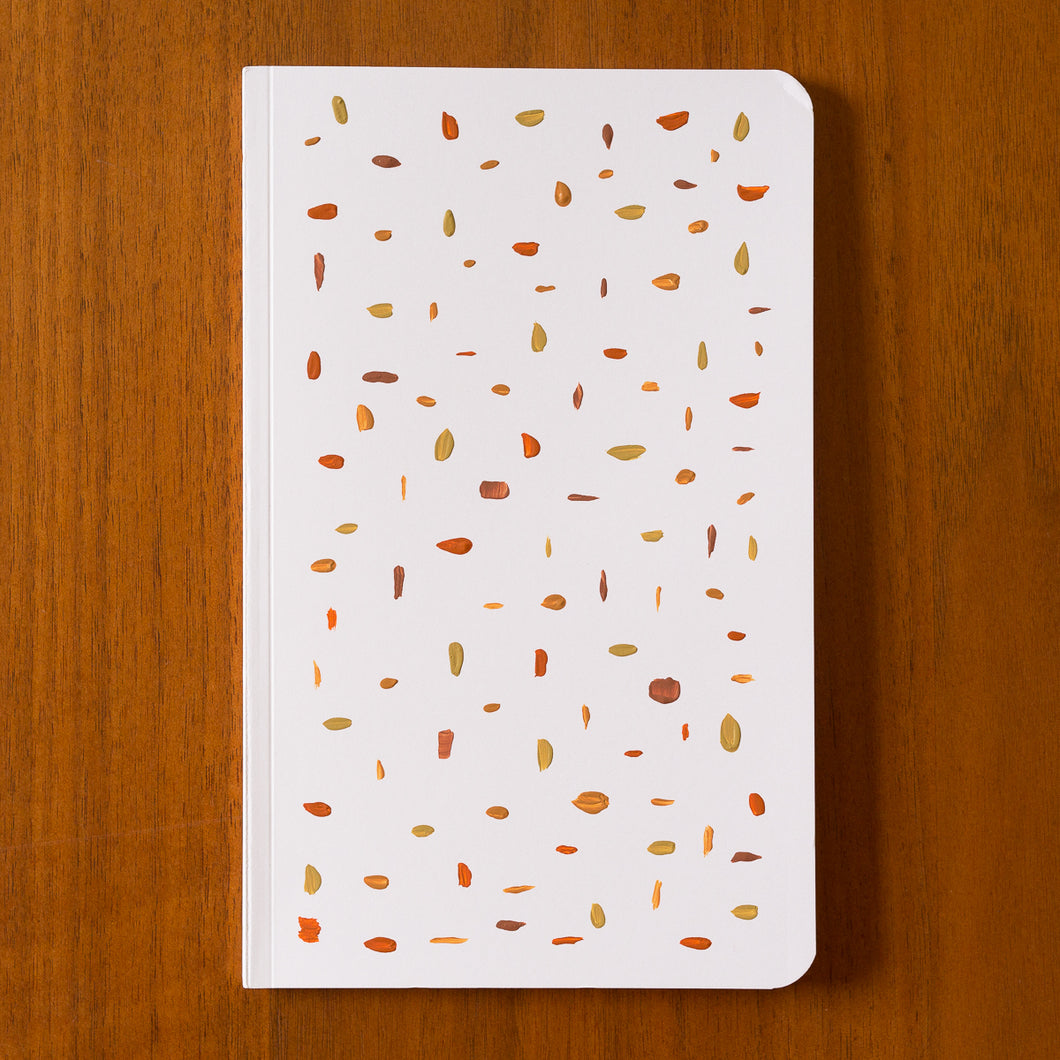 hand painted notebook confetti 2