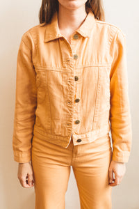 sunshine denim jacket in sand