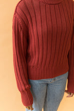 Load image into Gallery viewer, seldom sweater in cranberry