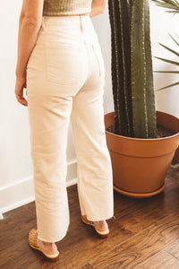 sunshine denim pants in white
