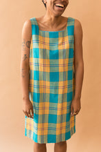 Load image into Gallery viewer, blue & gold plaid dress