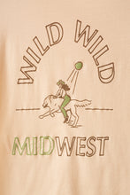 Load image into Gallery viewer, wild wild midwest women's tee in brown & green