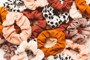 burnt orange scrunchie