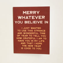 Load image into Gallery viewer, merry whatever card