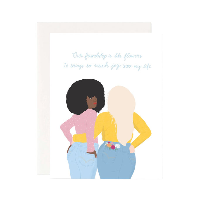 friendship like flowers card