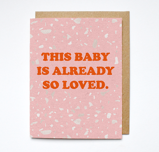 baby is loved card