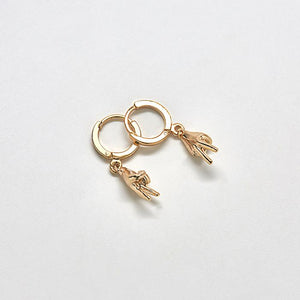 peace huggie earrings