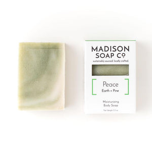 earth + pine moisturizing body soap