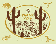 Load image into Gallery viewer, sonoran thank you card