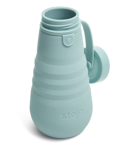 collapsible water bottle in aquamarine