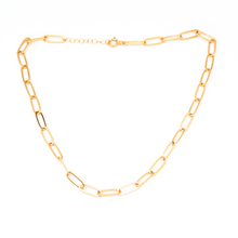 Load image into Gallery viewer, large lily link necklace