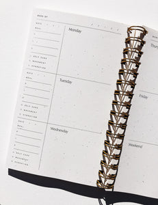 abstract weekly planner notebook