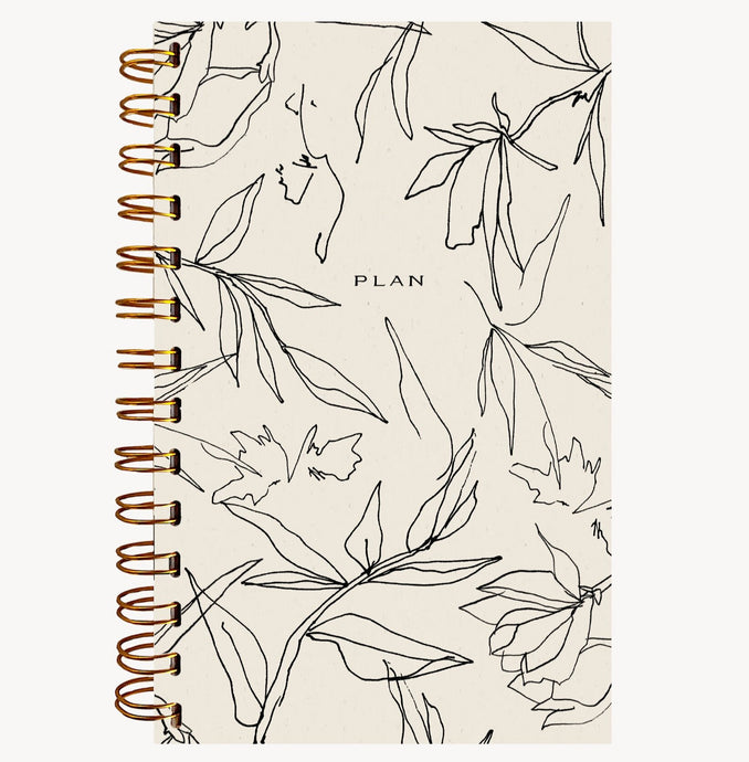 floral weekly planner notebook