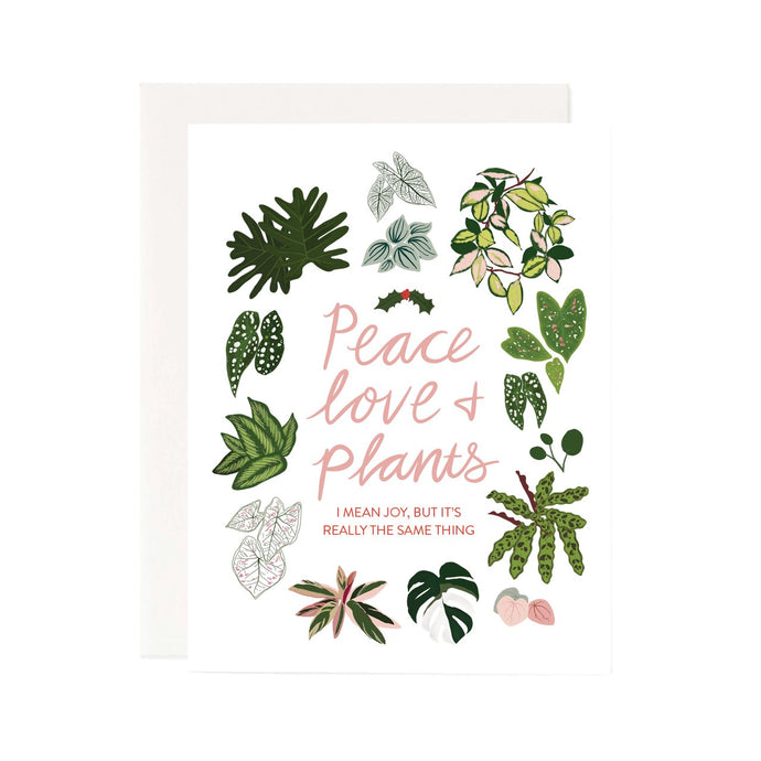 peace love & plants card