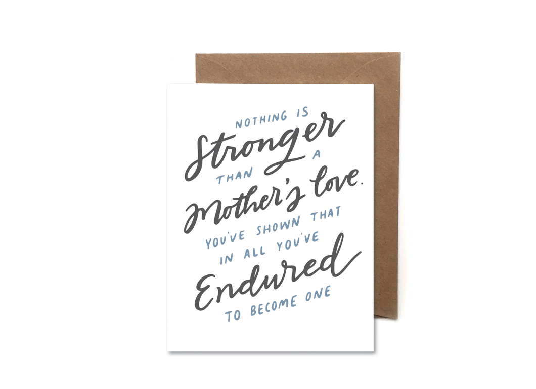 a mother's love card