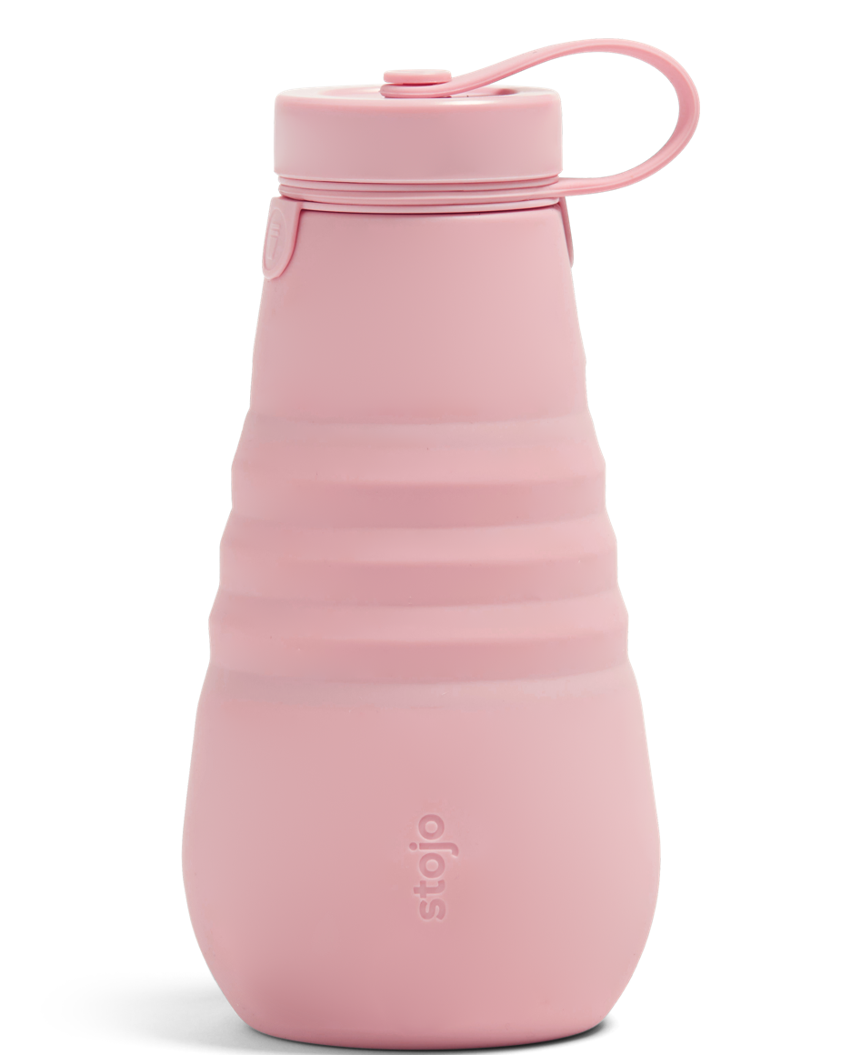 collapsible water bottle in carnation