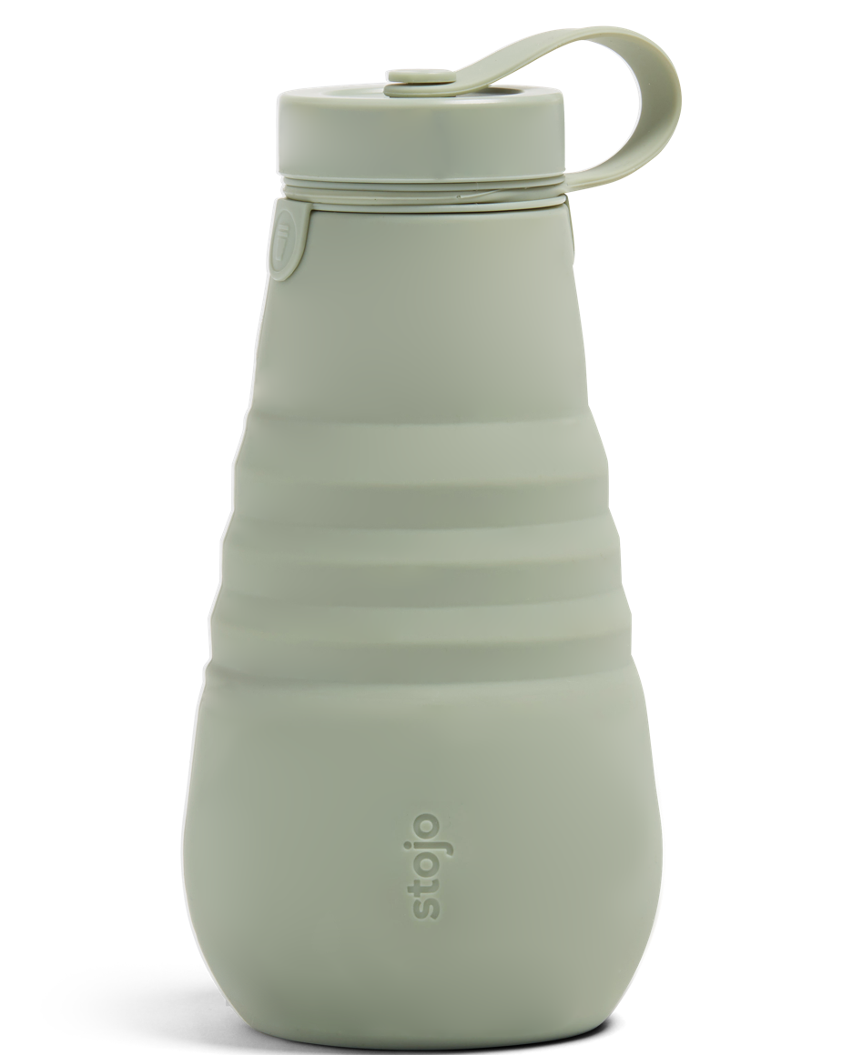 collapsible water bottle in sage