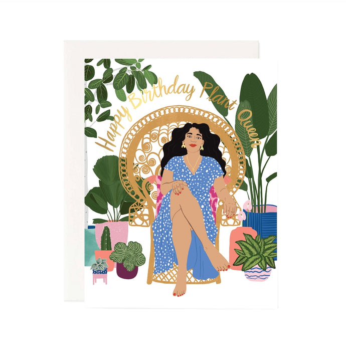 birthday plant queen card