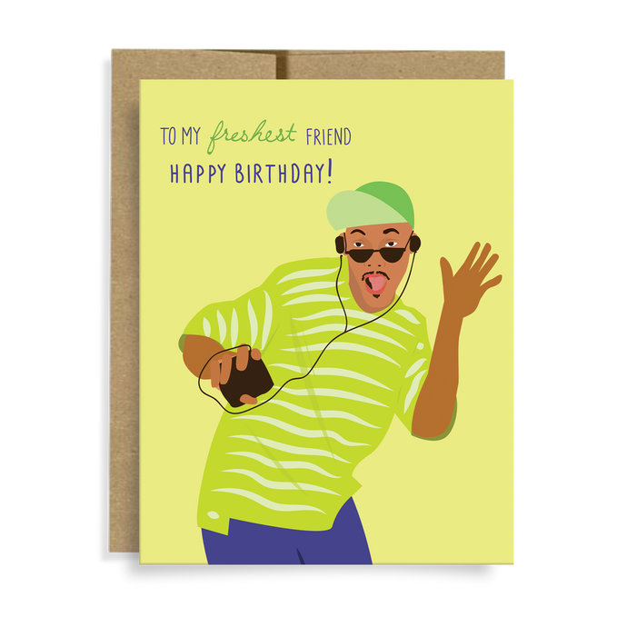 freshest friend birthday card