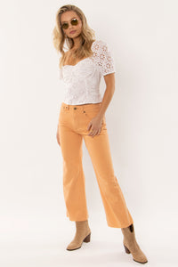 SECONDS sunshine denim pants in sand