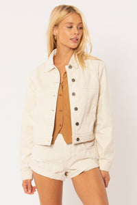 sunshine denim jacket in white