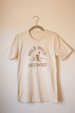 Load image into Gallery viewer, wild wild midwest unisex tee in red & gold