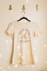 wild wild midwest women's tee in red & gold