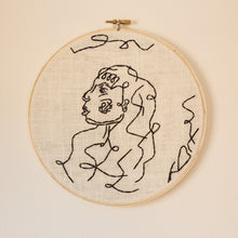 Load image into Gallery viewer, large line lady embroidery