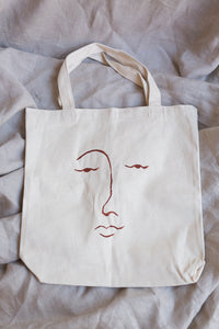 face tote - rouge