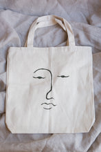 Load image into Gallery viewer, face tote - black