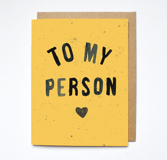 to my person card
