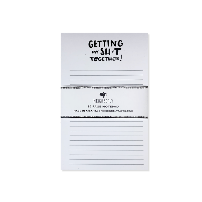 get my sh*t together notepad