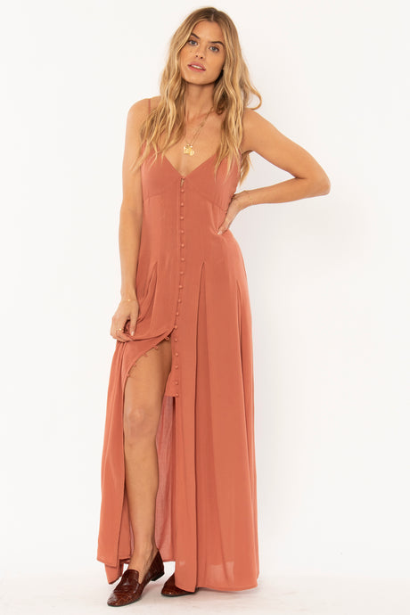 river dress in terracotta