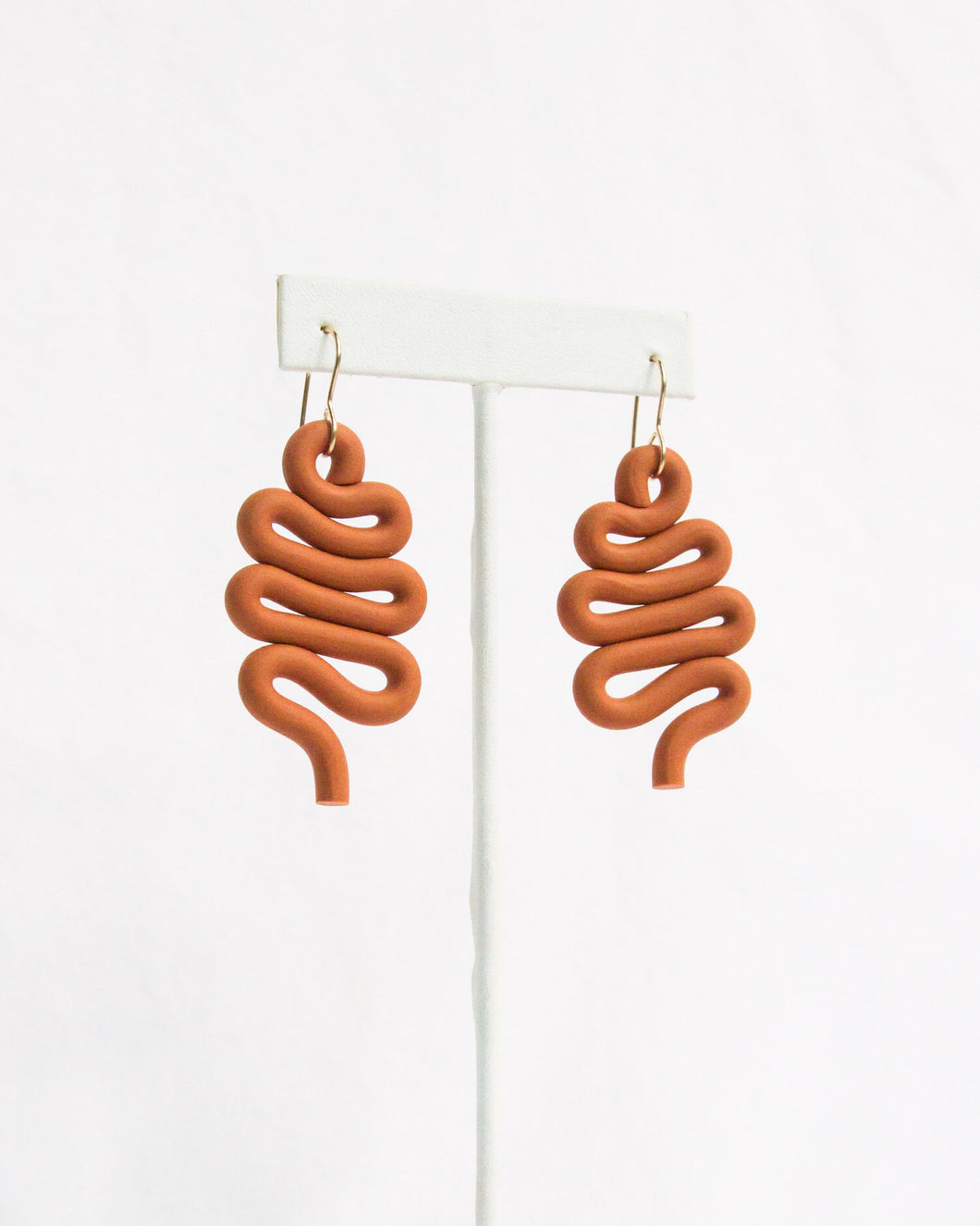 selby earrings in terracotta