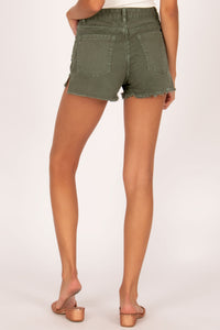shoreline denim shorts in sage